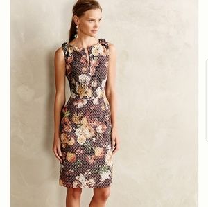 Tabitha Anthropologie Tema Quilted Floral Dress 0